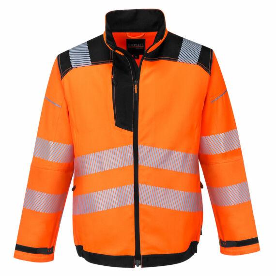 T500 PW3 Hi-Vis narancs-fekete kabát (S-3XL)