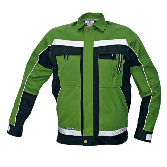 Stanmore zöld/fekete kabát