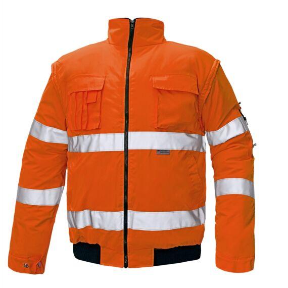 Clovelly HV narancs pilóta dzseki