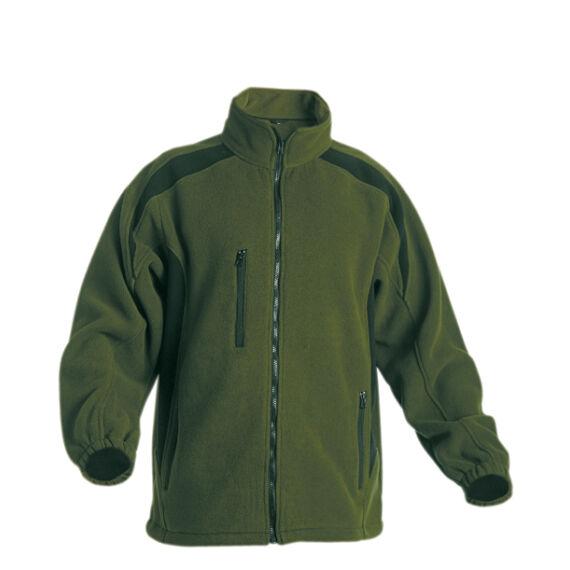 Tenrec zöld/fekete polár kabát