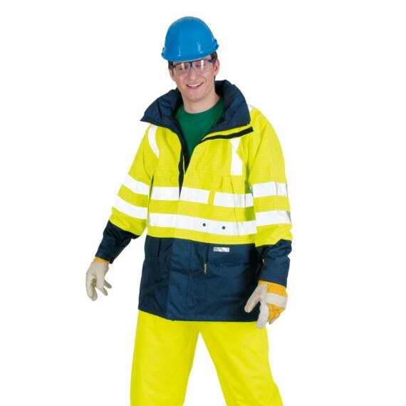 Winseler sárga/sötétkék multirisk láthatósági kabát