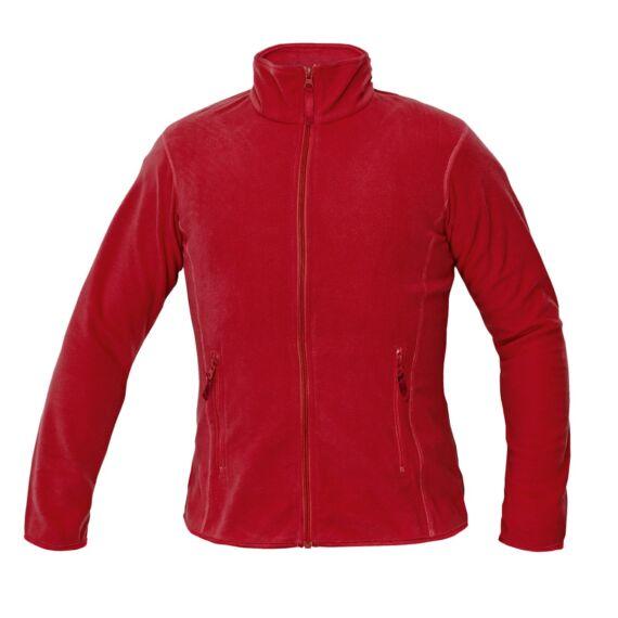 Gomti piros női polár kabát