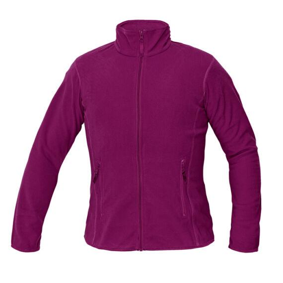 Gomti sötét rózsaszín női polár kabát