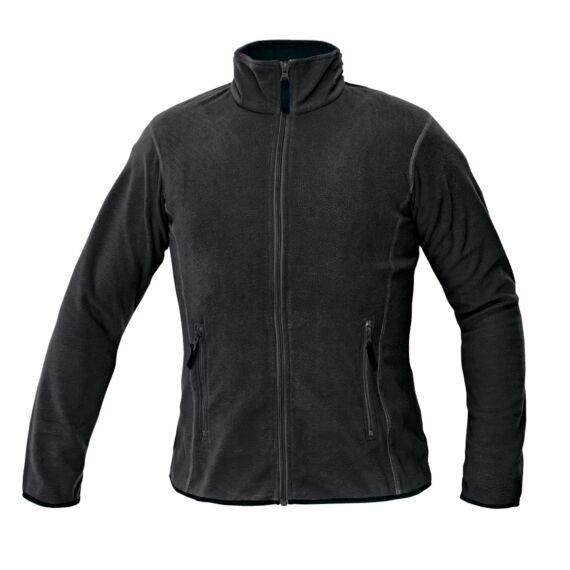 Gomti fekete női polár kabát