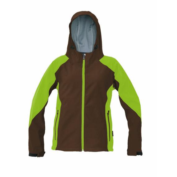 Yowie barna/zöld softshell kabát