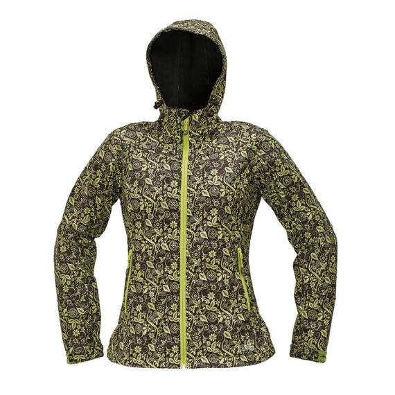 Yowie Printed barna/zöld softshell dzseki