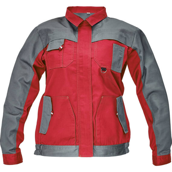 Max Evo Lady piros/szürke kabát
