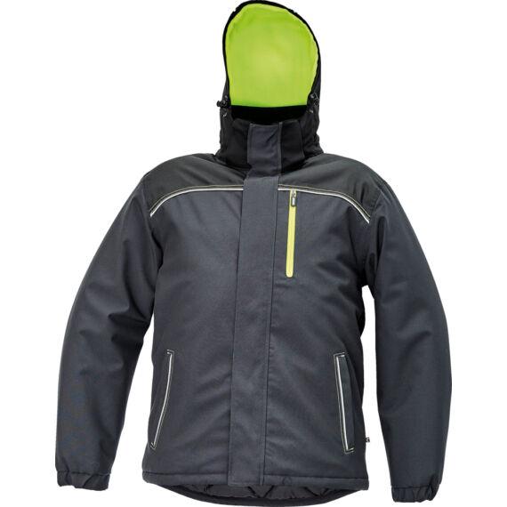 Knoxfield antracit/sárga téli dzseki