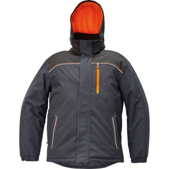 Knoxfield antracit/narancs téli dzseki