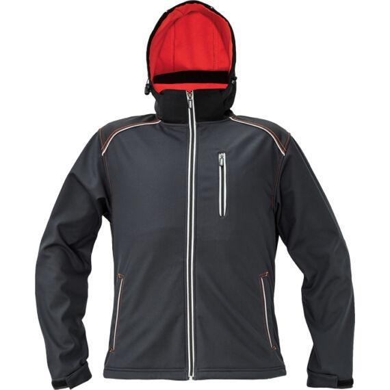 Knoxfield antracit/piros softshell dzseki