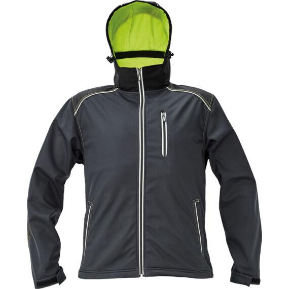 Knoxfield antracit/sárga softshell dzseki