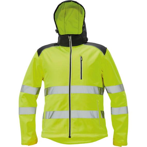 Knoxfield HV sárga softshell dzseki