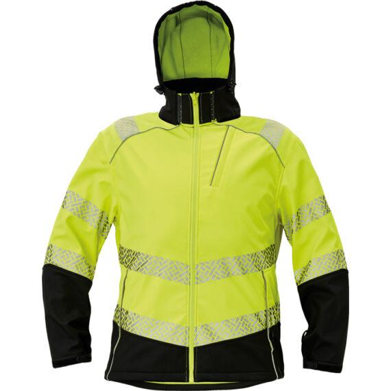 Knoxfield Profi HV sárga softshell dzseki