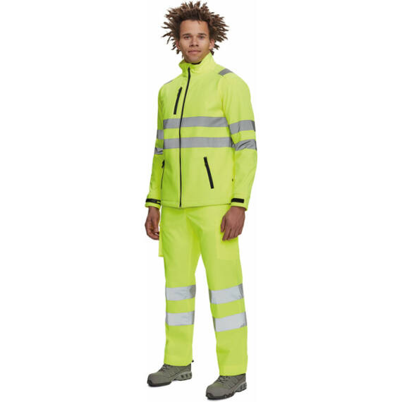 Murcia HV sárga softshell kabát