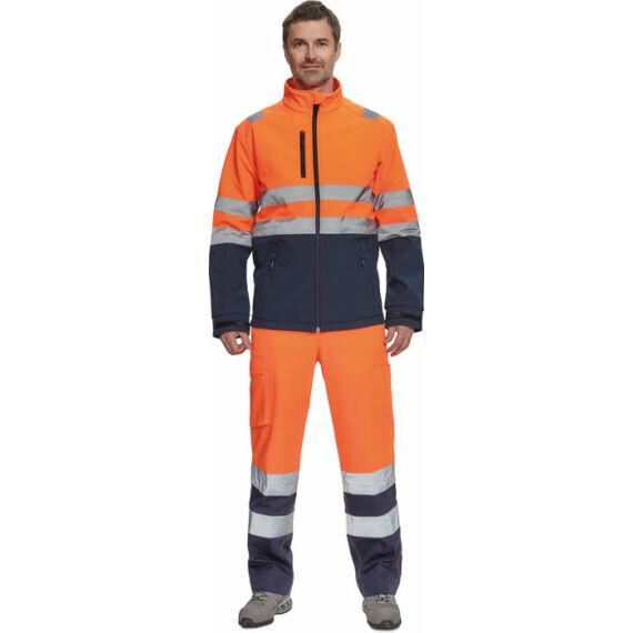 Granada HV narancs/tengerészkék softshell kabát