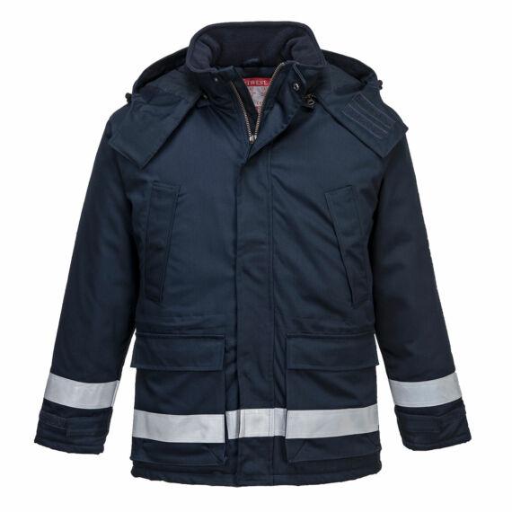 Araflame bélelt téli kabát Navy