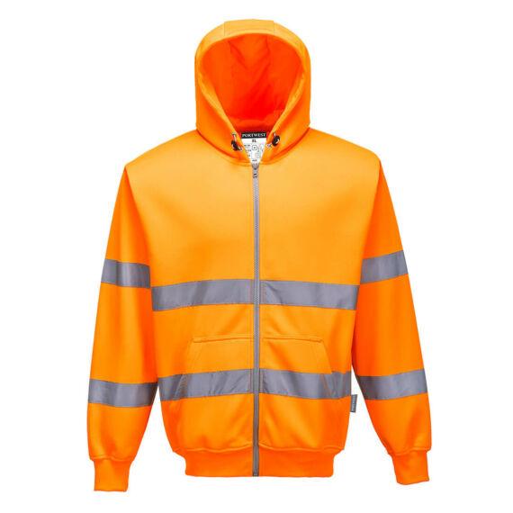 Hi-Vis zippzáros pulóver Orange
