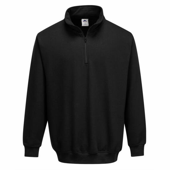 Sorrento zippzáras pulóver Black