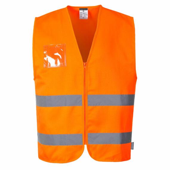 Hi-Vis kevertszálas mellény Orange