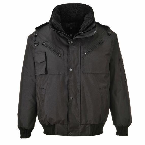 3 az 1-ben bomber kabát Black