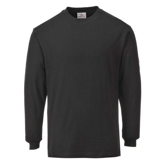 Lángálló, antisztatikus hosszú ujjú póló Black
