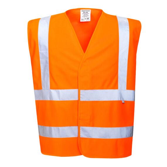 Láthatósági mellény lángálló bevonattal Orange