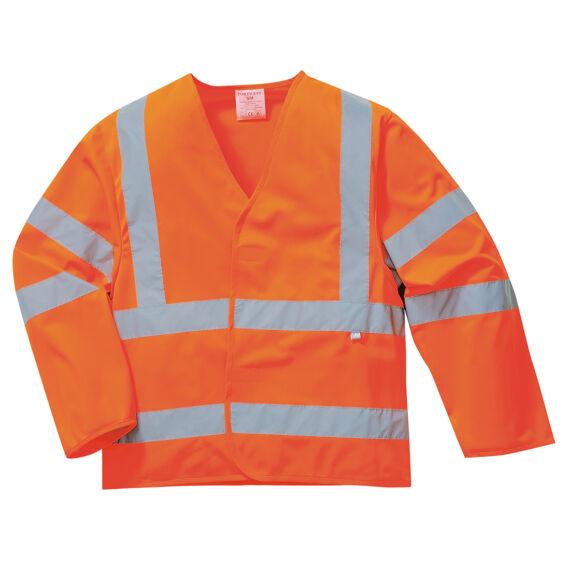 Láthatósági dzseki lángálló bevonattal Orange