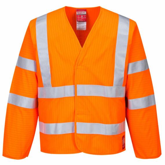 Jól láthatósági antisztatikus kabát - Lángálló Orange
