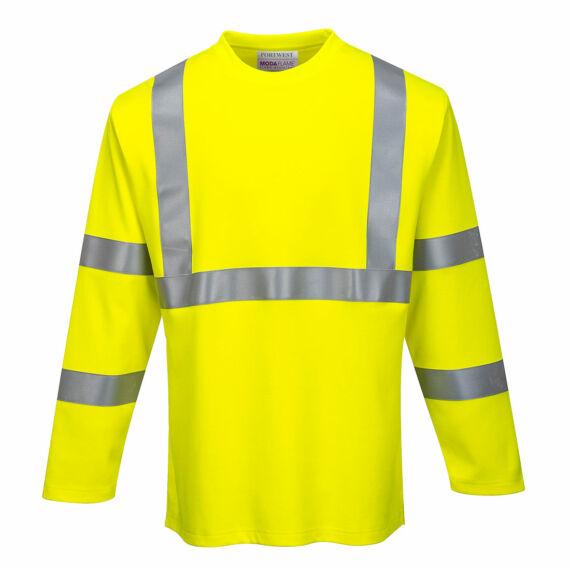 FR Hi-Vis hosszú ujjú pólóing Yellow