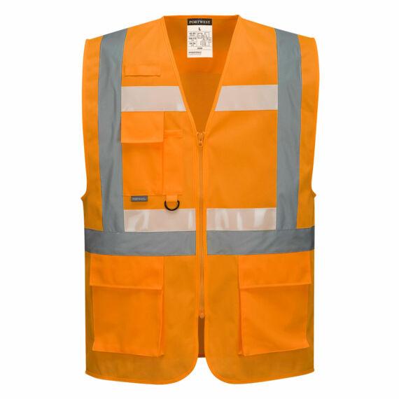 Glowtex vezetői mellény Ezee zippzárral Orange