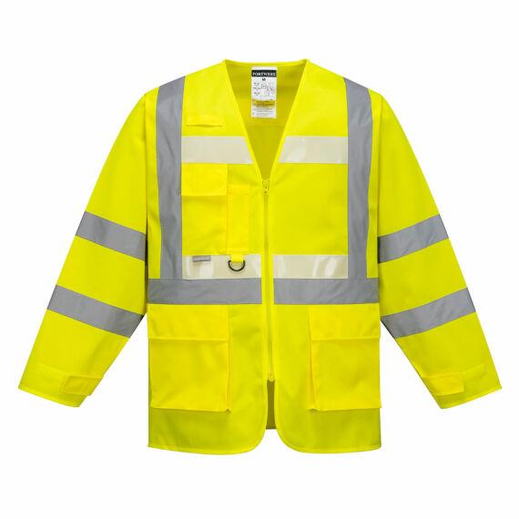 Glowtex vezetői kabát Yellow