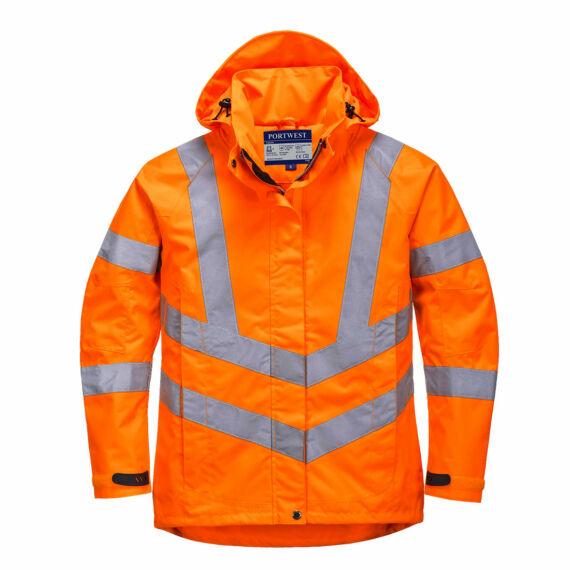 Női jól láthatósági lélegző kabát Orange