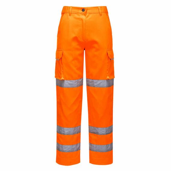 Női jól láthatósági nadrág Orange
