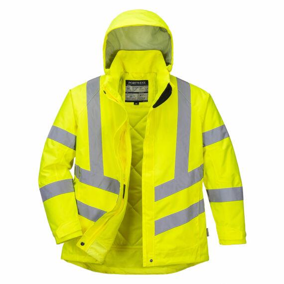 Női jól láthatósági téli kabát Yellow
