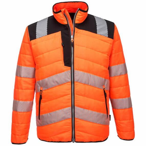 PW3 Hi-Vis Baffle kabát OrBk