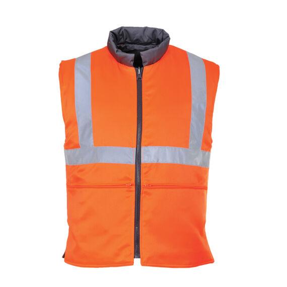 Jól láthatósági, kifordítható mellény RIS Orange