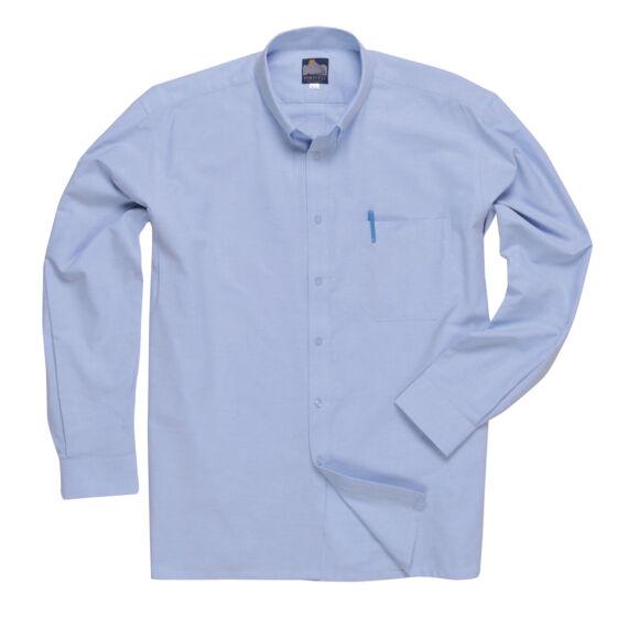 Oxford ing, hosszú ujjú Blue