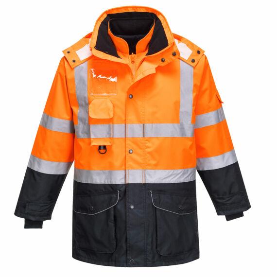 Hi-Vis 7 az 1-ben kontraszt Traffic kabát OrNa