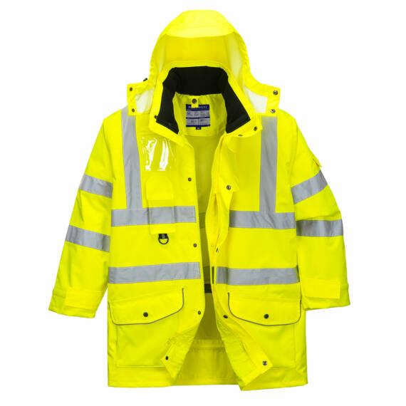Hi-Vis 7:1 Traffic kabát Yellow
