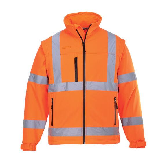 Jól láthatósági Softshell dzseki (3L) Orange