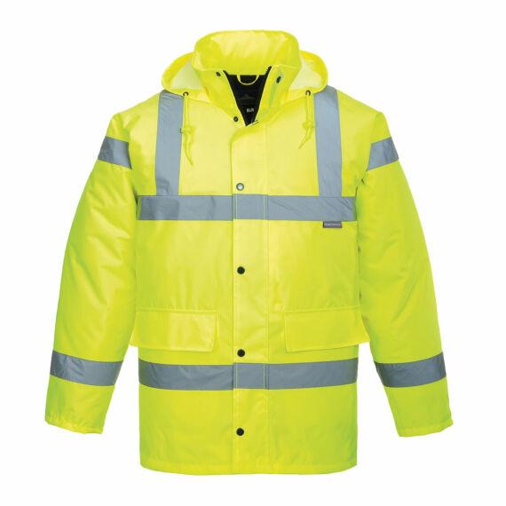 Hi-Vis lélegző kabát Yellow