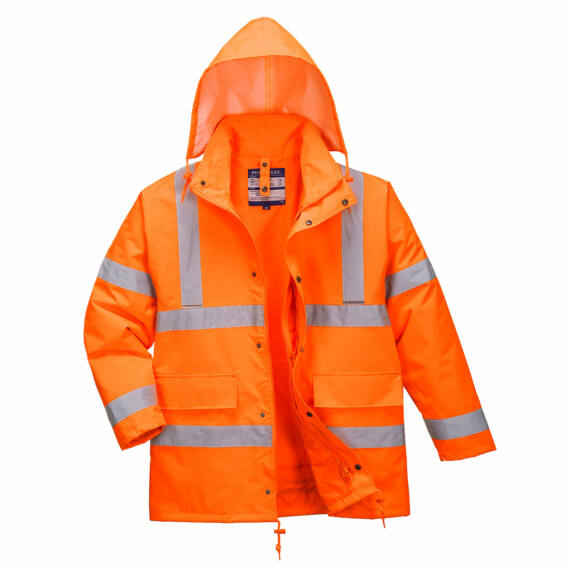 Hi-Vis 4 az 1-ben Traffic kabát Orange