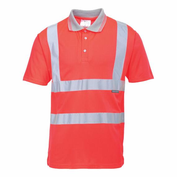 Jól láthatósági rövidujjú pólóing Red