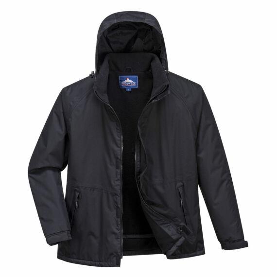 Limax bélelt kabát Black