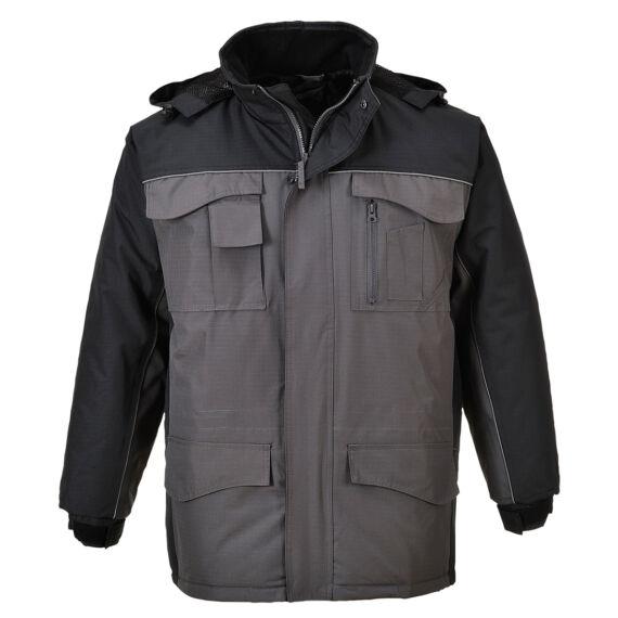 RS kéttónusú kabát BkGrey