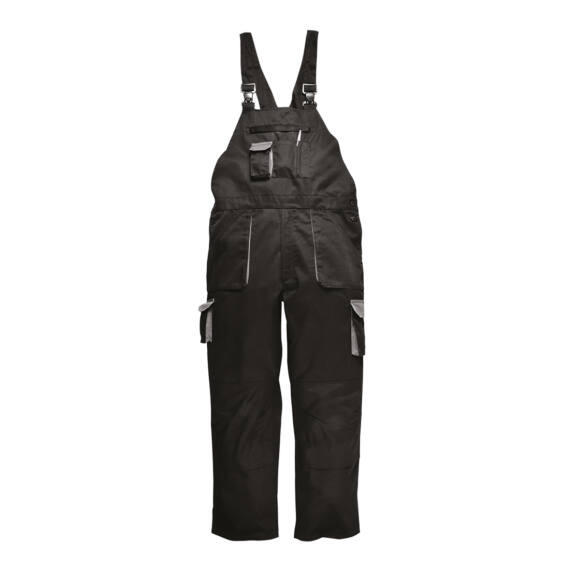Portwest Texo Contrast bélelt kantáros nadrág Black