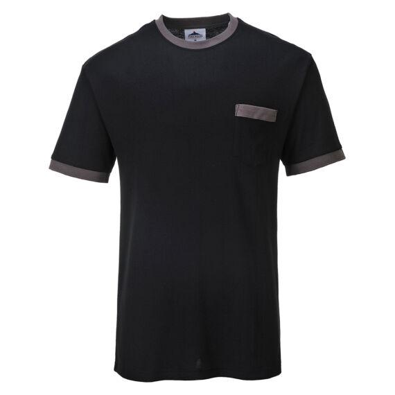 Portwest Texo kontraszt póló Black